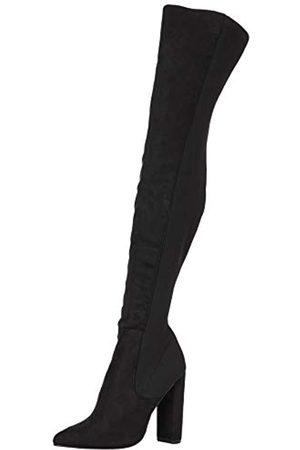 Steve Madden Damen Overknees - Damen Essence Black Overknee-Stiefel