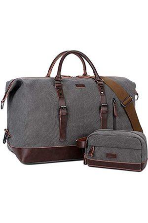 Baosha Reisetasche aus Segeltuch und PU-Leder