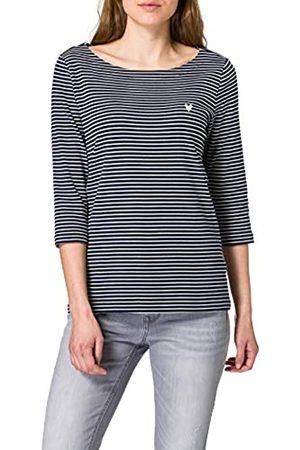 TOM TAILOR Damen 1024035 Stripe T-Shirt, 26033-Navy White Small