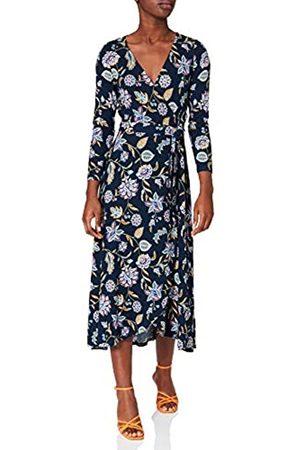 Springfield Damen Vestido Midi Cruzado Estampado Kleid