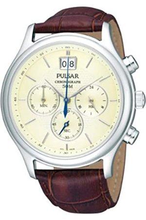 Pulsar Uhren Herren-Armbanduhr XL Klassik Chronograph Quarz Leder PU5003X1