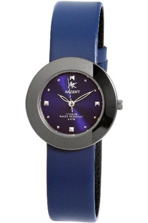 Akzent Damen-Uhren mit Echtlederband 321523219006