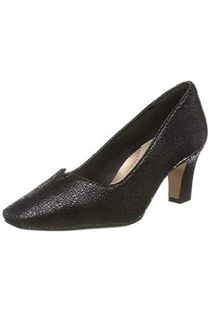 Van Dal Damen Ophelia Uniform-Schuh, 140.Black Crackle Pr