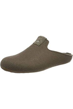 Haflinger Damen Hausschuhe - Unisex-Erwachsene Lykke Pantoffeln (taupe 280) 38 EU