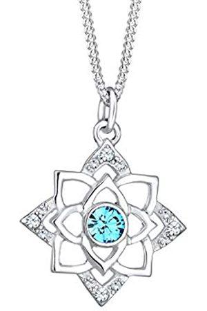 Elli Halskette Damen Anhänger Elegant mit Kristalle aus 925 Sterling Silber