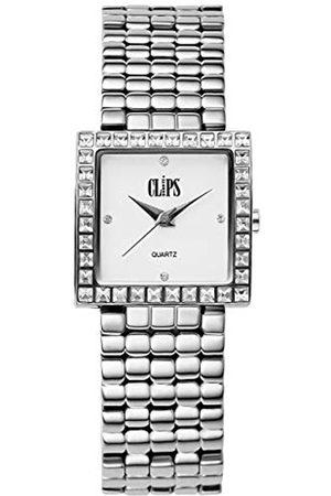 CLIPS Damen Analog Uhr mit Metall Armband