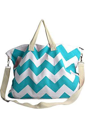Peach Couture Umhängetasche/Reisetasche aus Segeltuch mit Zickzackmuster