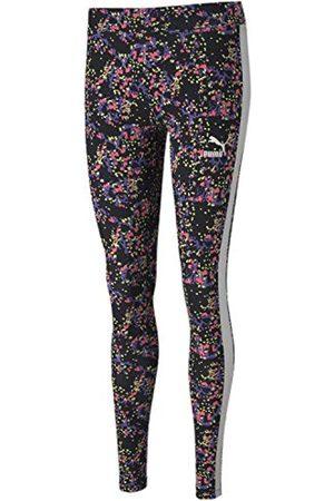 PUMA Damen All Over Legging Unterhose, Black-Splat Allover-Print