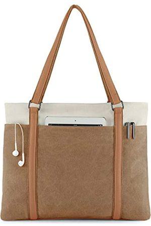 Wxnow Laptop-Tragetasche für Damen, aus Segeltuch, Schultertasche