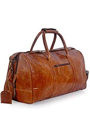 creative art & craft Übergroße Reisetasche, handgefertigt, echtes Büffleder, für Reisen, Fitnessstudio, Sport, Übernachtung, Wochenendbesatz, für Herren und Damen