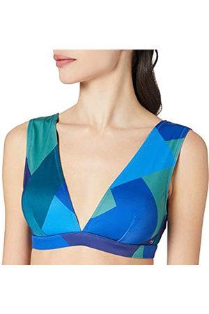 Sloggi Damen Kiritimati Top Bikini, Blue-Dark Combination