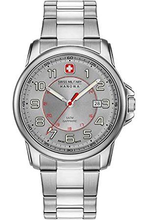 Swiss Military Hanowa Unisex Erwachsene Analog Quarz Uhr mit Edelstahl Armband 06-5330.04.009