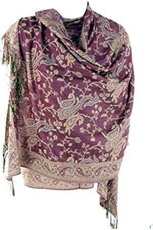Silver Fever Schal / Stola, Pashmina-Stil, Design mit Paisley-Muster und fernöstlichen Motiven, Jacquard-Gewebe Gr. One size