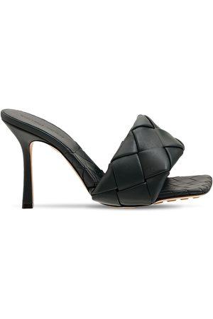 Bottega Veneta 90mm Lido Woven Leather Slide Sandals