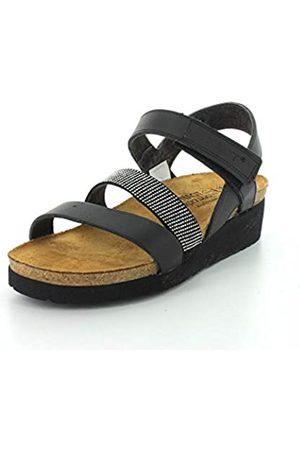 Naot Footwear's Women Krista Backstrap Sandal Black Matte Lthr/Black w/Silver Rivets 37 M EU / 6-6.5 B (M) US