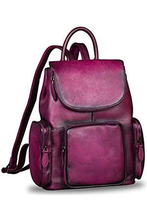 IVTG Leder-Rucksack für Damen, Vintage-Stil, handgefertigt