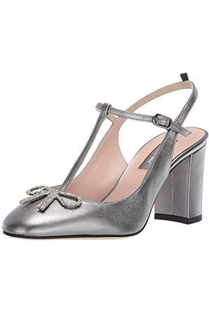 Sjp Damen Sandalen - Damen Relic T-Strap Slingback Black Heel, Grau (Stardust Zinn)