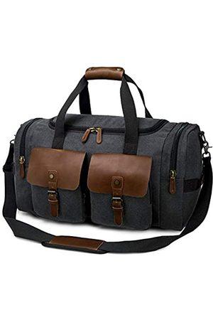 TAK Canvas Duffle Reisetasche Übergroße Weekender Tasche Vintage Holdall Handtasche Sport Gym Bag mit Schultergurt für Herren Damen