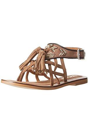 Bronx Damen Sandalen - BiksaX, Damen Knöchelriemchen Sandalen, (274 Mid brown/bronze)