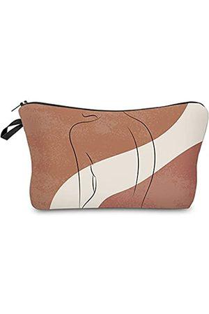 Deanfun Kleine Make-up-Taschen mit Linien-Kunstdruck, Kosmetiktasche für Frauen, geräumige Geldbörse, Reise-Zubehör, Organizer