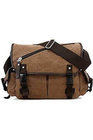 Oct17 Herren Kuriertasche Schule Schulter Canvas Vintage Crossbody Military Satchel Bag Laptop Größe: L