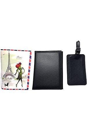 Blazing Autumn Reisepasshülle und Gepäckanhänger mit Namensschild und extra Paris Fashion Reisepasshülle