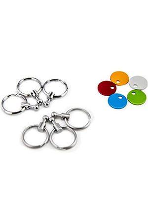 Troika Damen Ringe - Zubehör Patent Schlüsselhalter – enthält 6 ausklinkbare Ringe zur Schlüsselorganisation und Farbplättchen