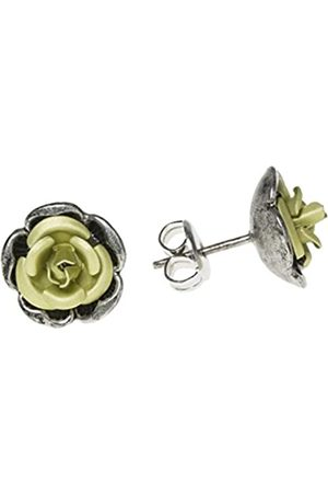 Schnabel Damen-Ohrstecker Rosenschmuck - Rose 102 grün 8mm