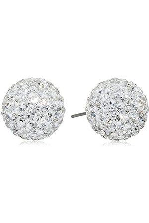 Pasionista Damen-Ohrstecker 925 Silber rhodiniert Kristall Brillantschliff 1.2 cm - 640365