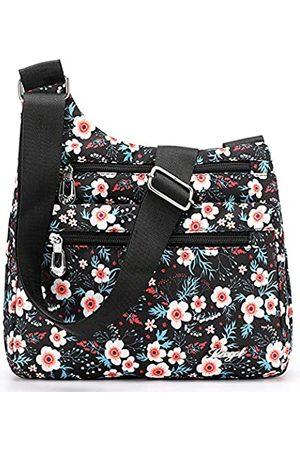 STUOYE Nylon Multi-Pocket Crossbody Geldbörse Taschen für Frauen Reise Schultertasche, (Sonnenblume)