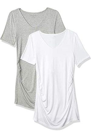 Amazon Maternity 2-Pack Short-Sleeve Rouched V-Neck T-Shirt