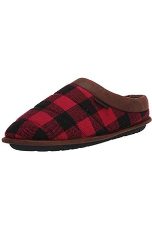 Dearfoams Herren Quilted Clog with Faux Leather Trim Slipper X-Weit