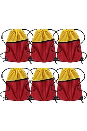 ICObuty Damen Rucksäcke - Sport-Sportbeutel Sack Kordelzug Rucksack 6er Pack Herren Damen 210D Polyester erhältlich für Wärmepressen