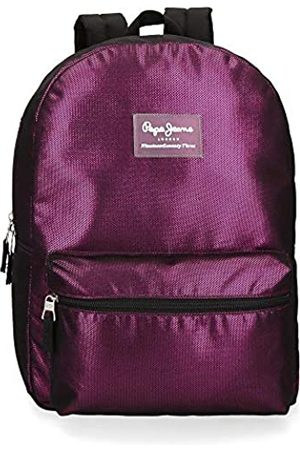 Pepe Jeans Lily Laptop-Rucksack Violett 32x44x15 cms Polyester 15