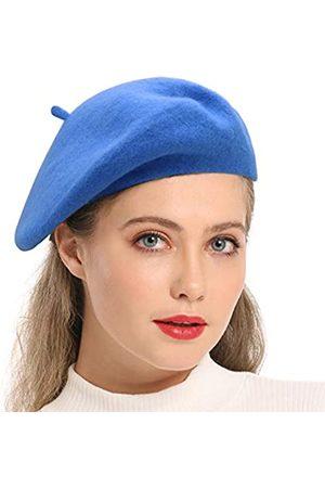 Wheebo Baskenmütze aus Wolle, einfarbig, französischer Stil