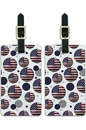 Graphics and More Graphics & More Futbol Football Country Z-The United States Flag Fußball - Luggage.Tags.09827