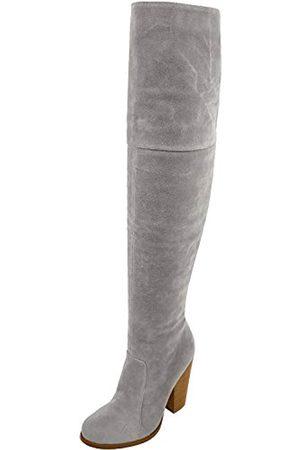 Chase & Chloe Max-2 Damen Overknee-Stiefel aus Wildleder mit klobigem Absatz