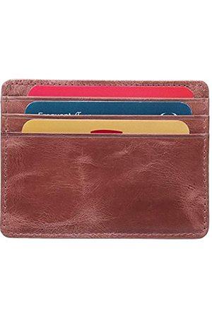 ALPHAHIDE Kreditkartenetui aus echtem Leder, dünner Ausweishalter, Vordertasche, schmale Tasche