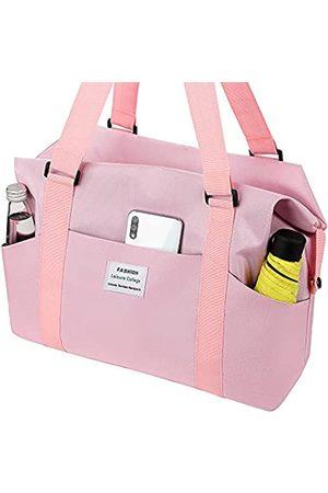 KWSPLK Große Strandtasche für Damen, Pool-Taschen und Tragetaschen, wasserdicht, mit Reißverschluss, für Picknick, Reisen, Fitnessstudio, Schwimmen, Pink (rose)
