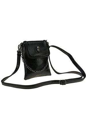 FakeFace Damen Umhängetaschen - Handtasche mit Nieten und Totenkopf-Motiv, Gothic-Stil, Umhängetasche, Umhängetasche, Reisetasche, Leder