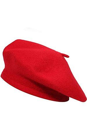 ZLYC Damen Wolle-barett-Hut klassisches festes Farbe französisch barett für One Size