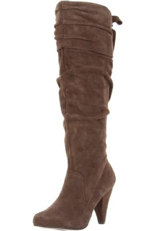 NAUGHTY MONKEY Damen Fearless Kniehohe Stiefel, (Taupe)