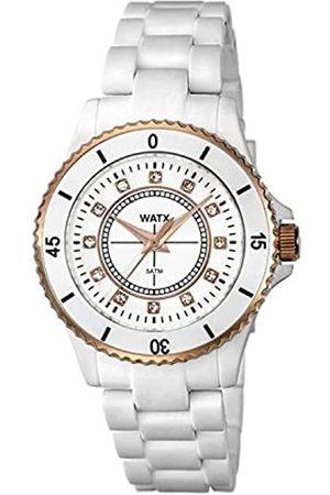 Watx Damen Uhren - Analog Quarz Uhr mit Plastik Armband RWA9014