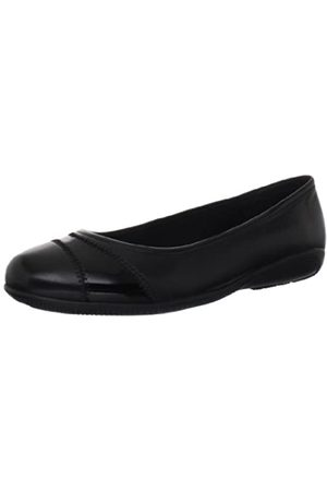 Walking Cradles Damen Ballerinas - Damen-Spaß, (schwarzes Leder)