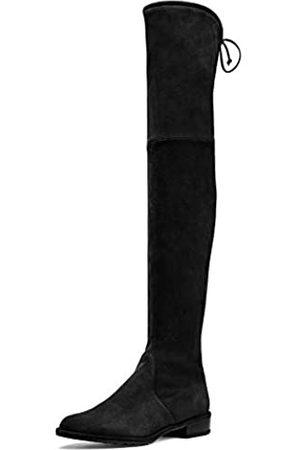 ATAX Damen Overknees - Damen Fashion Casual Square Heel Stretchy Spitze Leder Overknee Oberschenkel Hohe Stiefel