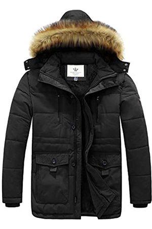 WenVen Herren Kapuzenjacke Warm Mantel Winter Parka Jacke - - Medium
