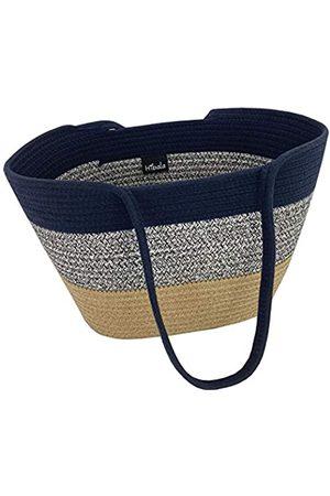 Hibala Damen Strandtaschen - Gewebte Strandtasche/Strandtasche/Handgemachte Weberei Schultertasche/Handtasche