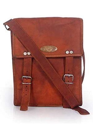 Creative Art & Craft Umhängetasche aus echtem Ziegenleder | Umhängetasche aus reinem Leder | Herren-Handtasche mit mehreren Taschen