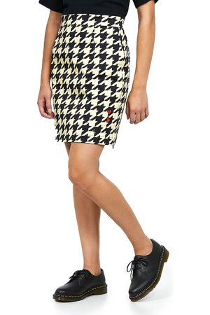 Fred Perry Houndstooth Pencil Skirt