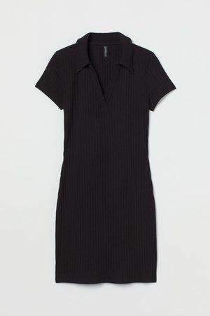 H&M Jerseykleid mit Kragen